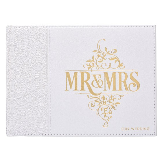Mr & Mrs Guest Book (Imitation Leather)