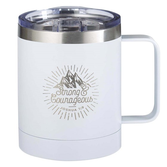 Strong & Courageous Stainless Steel Camp Style Mug (General Merchandise)