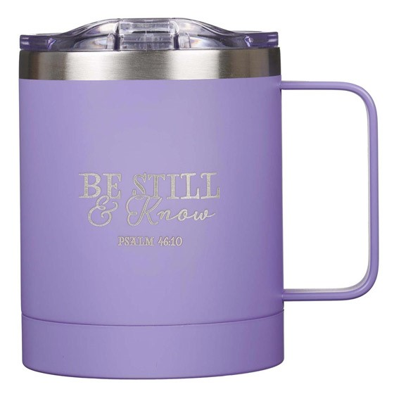 Be Still Stainless Steel Camp Style Mug (General Merchandise)