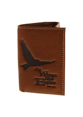 Isaiah 40:31 Brown Leather Wallet (General Merchandise)