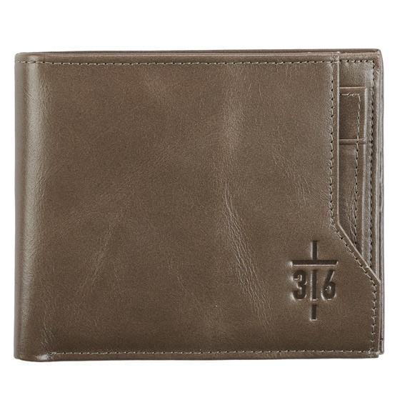 John 3:16 Brown Leather Wallet (General Merchandise)