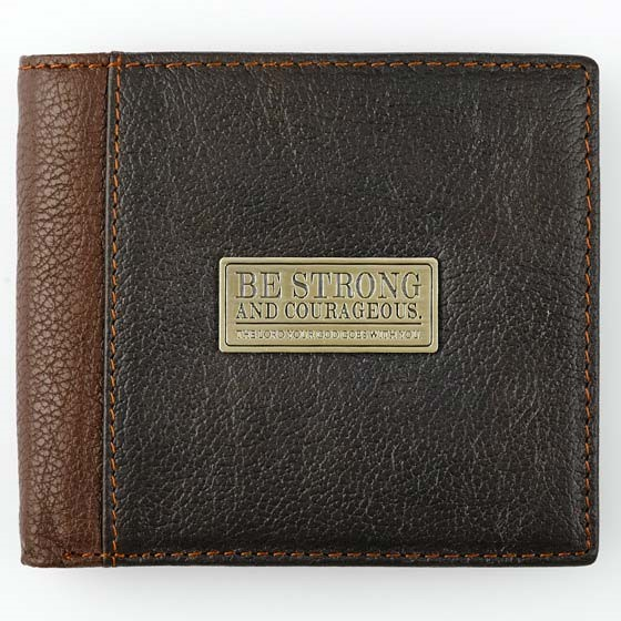 Be Strong Brown Leather Wallet (General Merchandise)