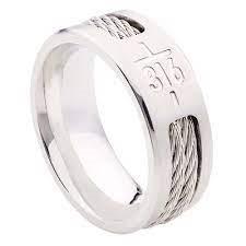 John 3:16 Men's Ring (size R) (General Merchandise)
