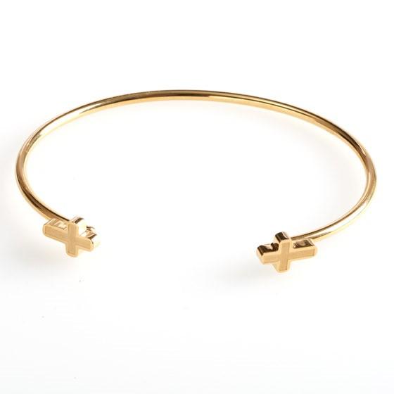 Cross Open Cuff Bracelet (General Merchandise)