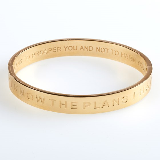 I Know the Plans Hinged Bangle (General Merchandise)
