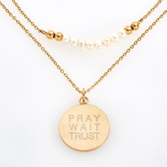 Pray Wait Trust Necklace (General Merchandise)