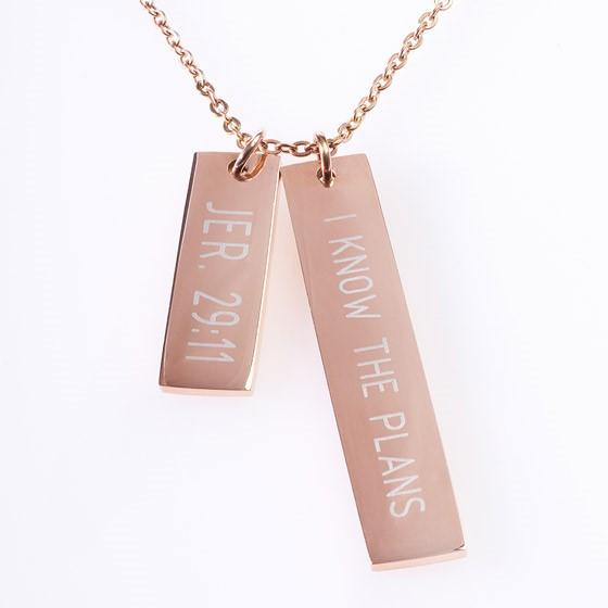 Double Bar Jeremiah 29:11 Necklace (General Merchandise)