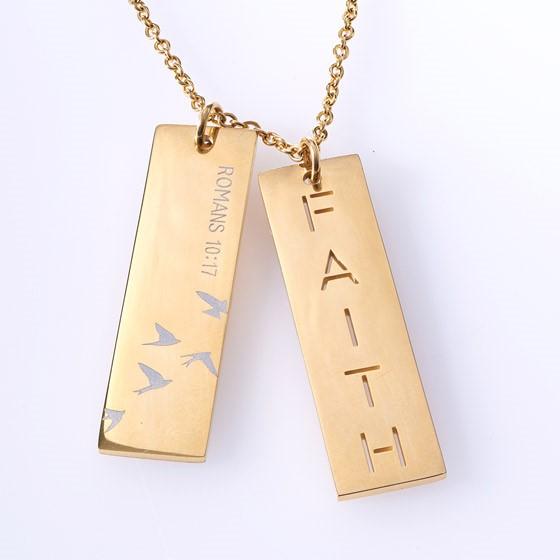 Double Bar Faith Necklace (General Merchandise)