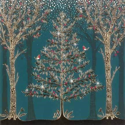 Christmas Cards: Trees (Pack of 4) (Cards)