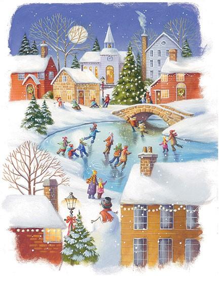 Advent Calendar: Snow Scene (Calendar)