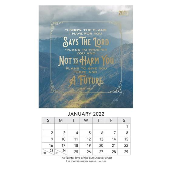 2022 Mini Magnet Calendar: Jeremiah 29:11 (Calendar)
