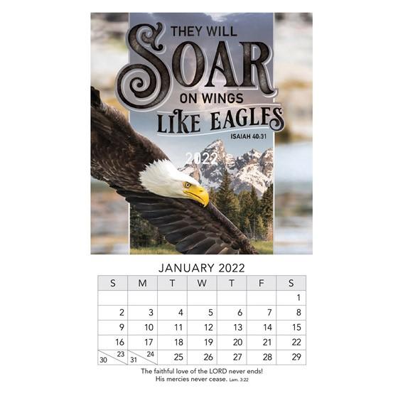 2022 Mini Magnet Calendar: Eagles (Calendar)
