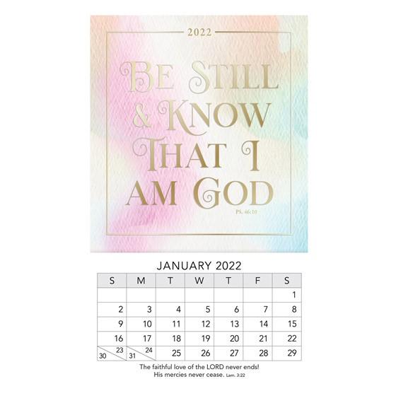 2022 Mini Magnet Calendar: Be Still (Calendar)