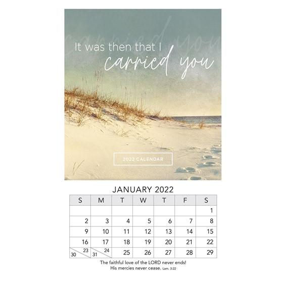 2022 Mini Magnet Calendar: Footprints (Calendar)
