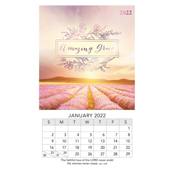 2022 Mini Magnet Calendar: Amazing Grace (Calendar)