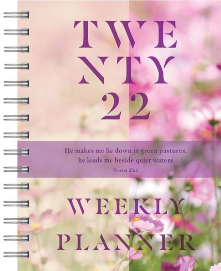 2022 Weekly Planner: Floral (Spiral Bound)