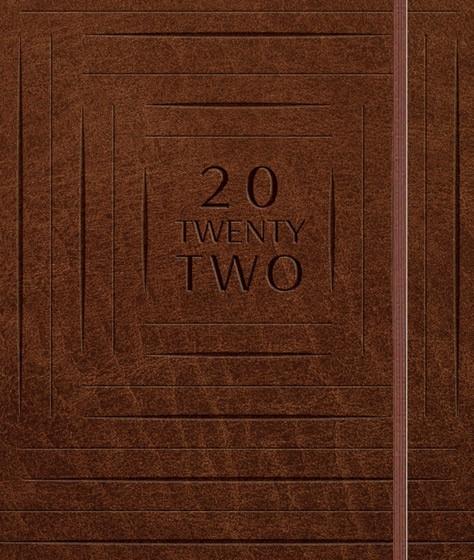 2022 Daily Planner: Brown (Spiral Bound)