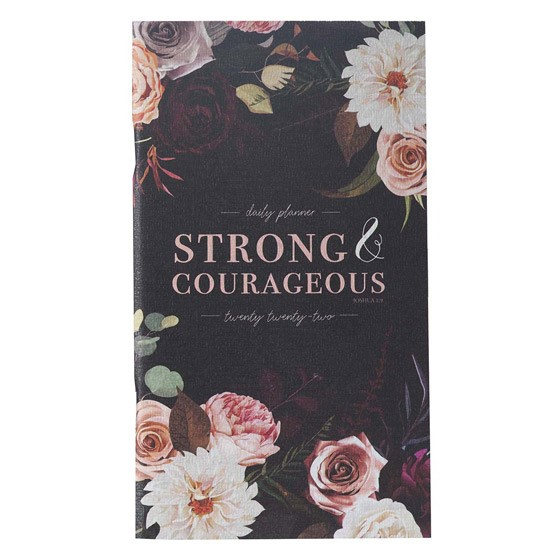 2022 Small Planner: Strong & Courageous (Paperback)