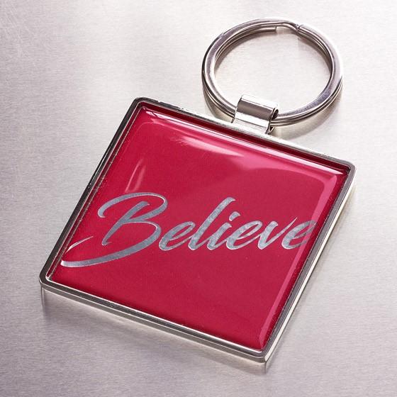 Believe Metal Keyring (Keyring)