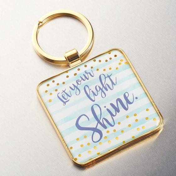 Let Your Light Shine Metal Keyring (Keyring)