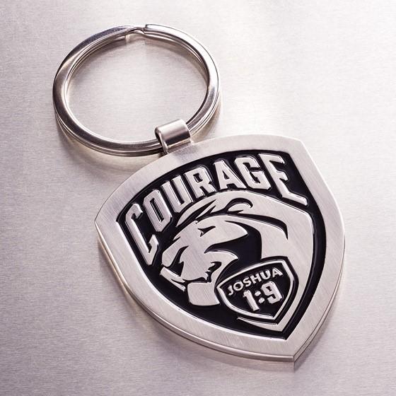 Courage Metal Keyring (Keyring)