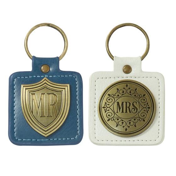 Mr & Mrs Boxed Keyring Set (Keyring)