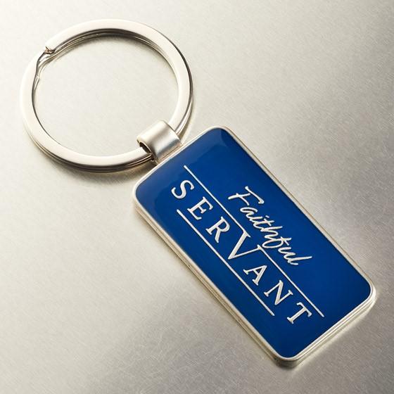 Faithful Servant Keyring in Tin (Keyring)