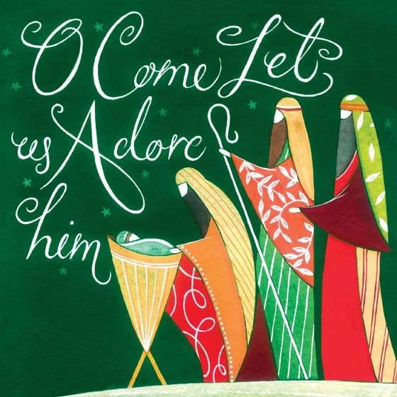 Let Us Adore Charity Christmas Cards (pack of 10) (Cards)