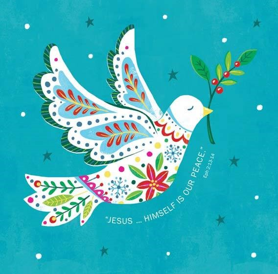 Jesus/Peace Charity Christmas Cards (pack of 10) (Cards)