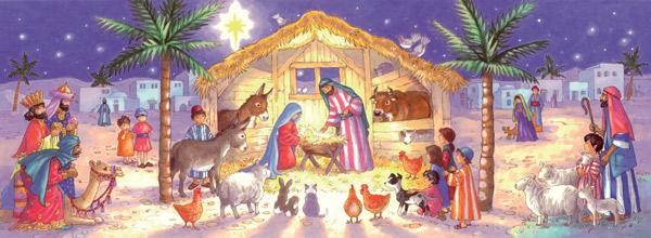 Nativity Scene Charity Christmas Cards (pack of 10) (Cards)