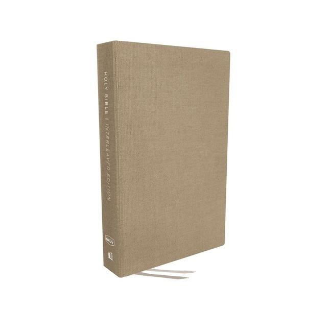 NKJV Interleaved Bible Journal Edition, Tan, Red Letter (Cloth-Bound)