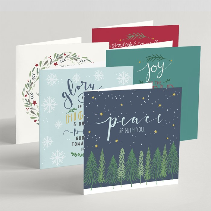Mixed Square Christmas Cards (pack of 10) (Cards)
