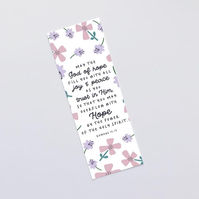 May The God Of Hope (Petals) Bookmark (Bookmark)