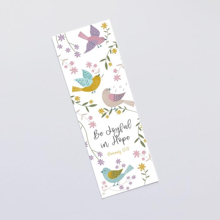 Be Joyful in Hope (Birds of Joy) Bookmark