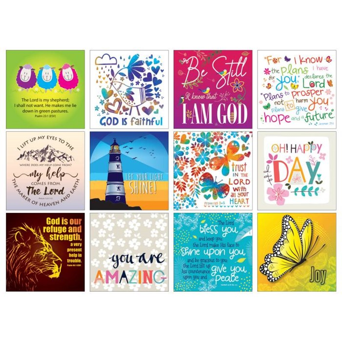 Pack of 12 Christian Notelets (Cards)