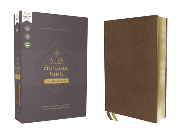 NASB Heritage Bible, Brown, Comfort Print (Imitation Leather)
