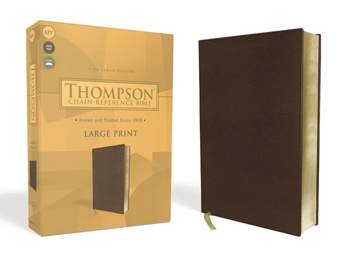 KJV Thompson Chain-Reference Bible, Large Print, Brown (Imitation Leather)