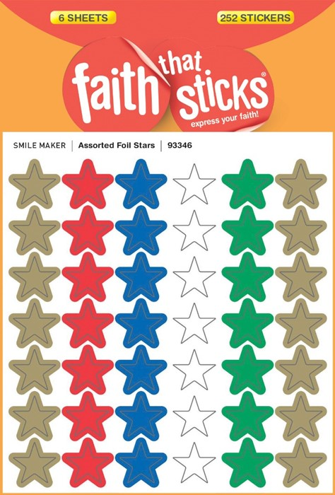 Assorted Foil Stars (Stickers)