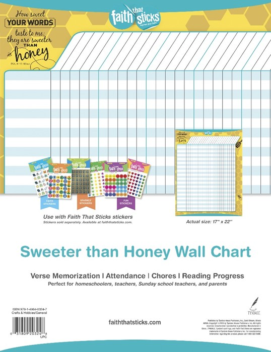 Sweeter Than Honey Wall Chart (Fold-Out/Chart)
