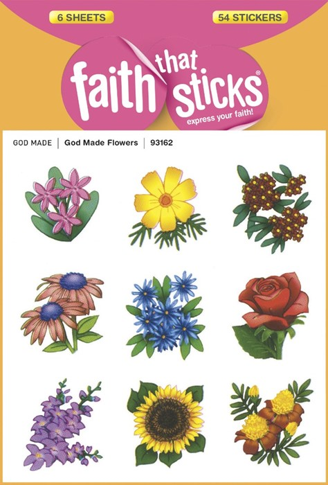 God Made Flowers (Stickers)