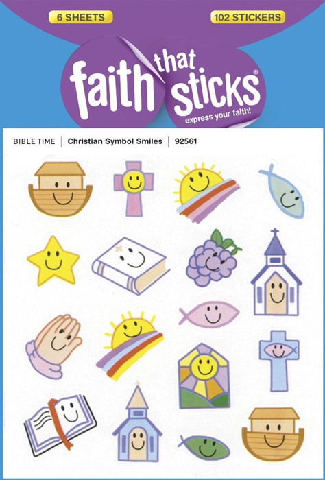 Christian Symbol Smiles (Stickers)