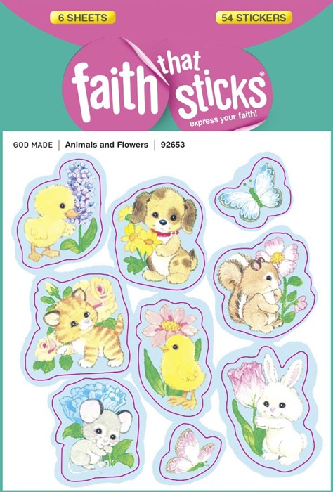 Animals And Flowers (Stickers)