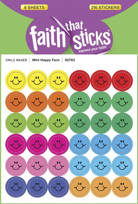 Mini Happy Face - Faith That Sticks Stickers (Stickers)