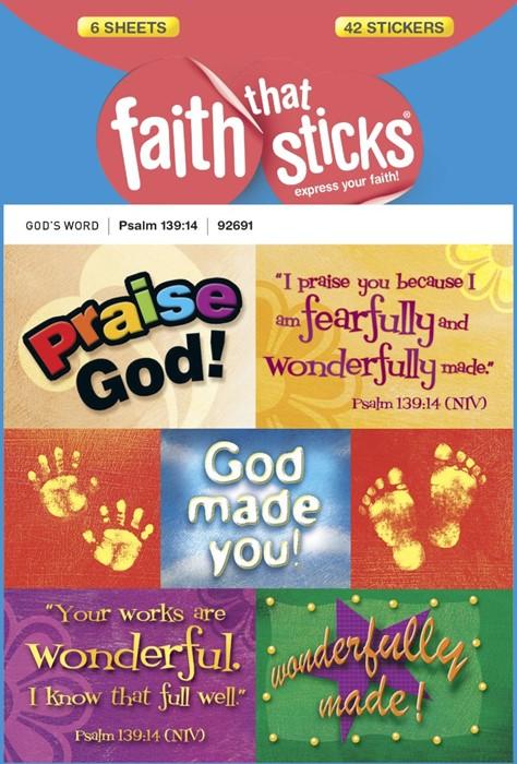 Psalm 139:14 (Stickers)