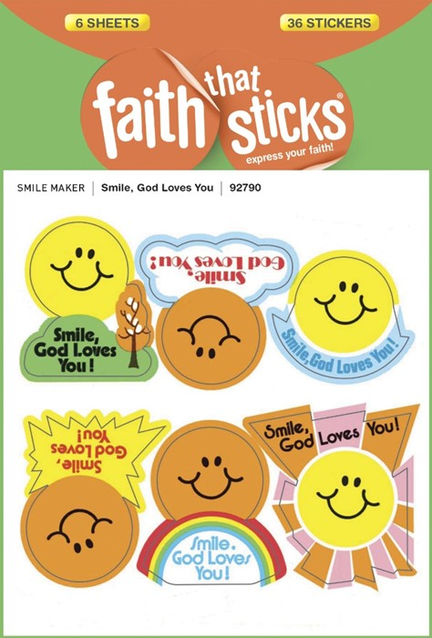 Smile, God Loves You - Faith That Sticks Stickers (Stickers)