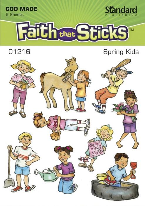 Spring Kids (Stickers)