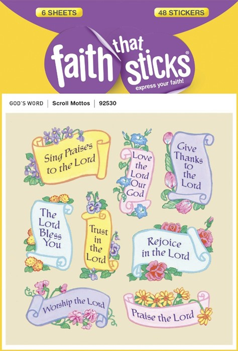 Scroll Mottos: Faith That Sticks Stickers (Stickers)