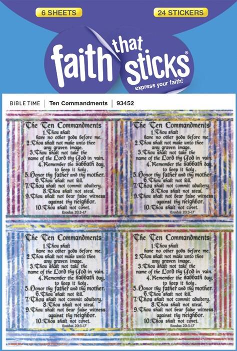 Ten Commandments (Stickers)