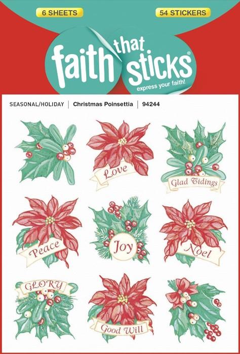 Christmas Poinsettia (Stickers)