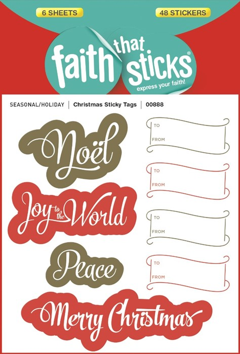 Christmas Sticky Tags (Stickers)
